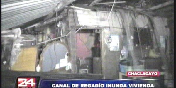 Colapsan viviendas en Chaclacayo tras desborde de acequia
