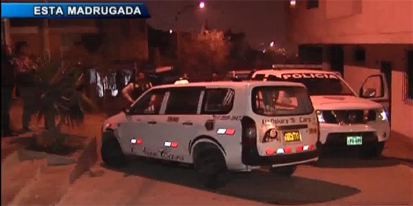 Delincuentes acribillan a taxista por resistirse al robo de su auto en SJL
