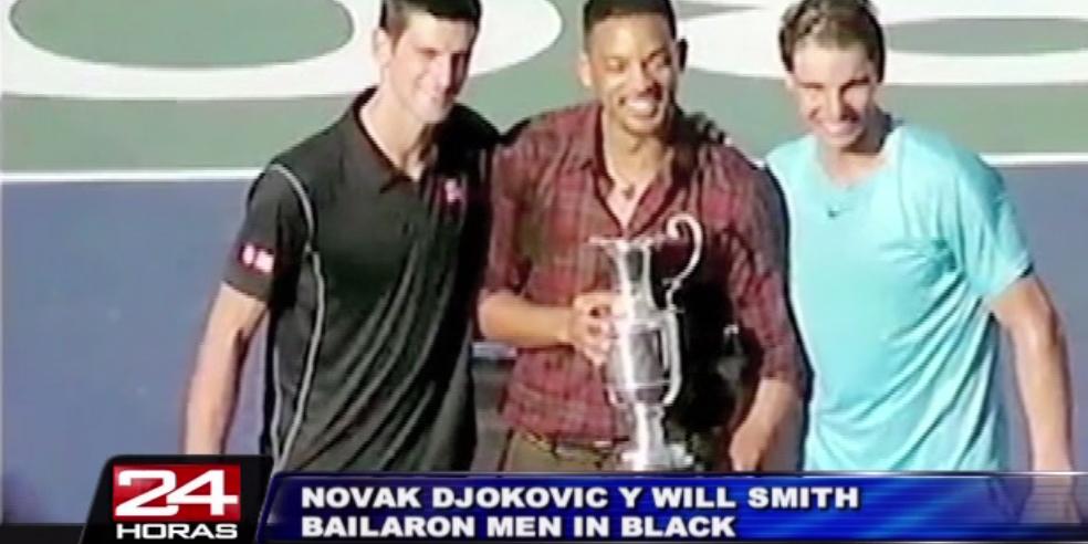 Argentina: tenista Novak Djokovic hizo bailar 'Men in Black' a Will Smith