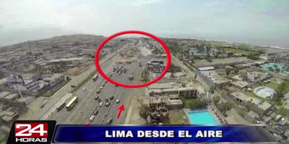 Reportero aéreo registró el intenso tráfico por obras en el sur de Lima