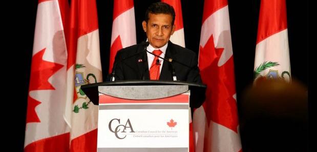 Presidente Ollanta Humala recibió premio al Estadista del Año en Canadá