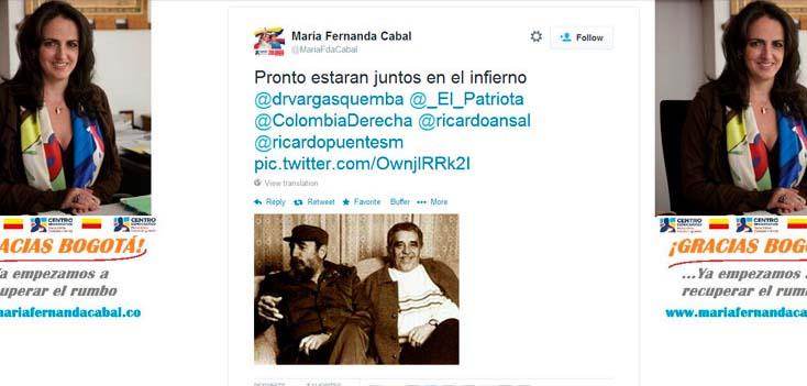Congresista colombiana quiere a Gabriel García Márquez en el infierno