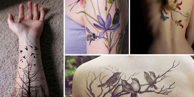 Fascinantes tatuajes de naturaleza para que dejes de lado ideas extravagantes