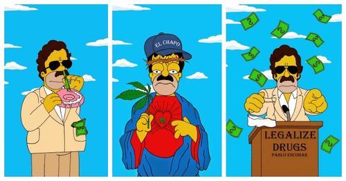 FOTOS: Homero Simpson se convierte en Pablo Escobar y en El 'Chapo' Guzmán