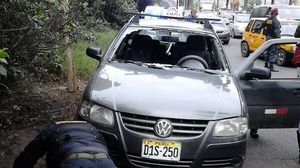 Deslizamiento de piedras en la Costa Verde dejó una persona herida