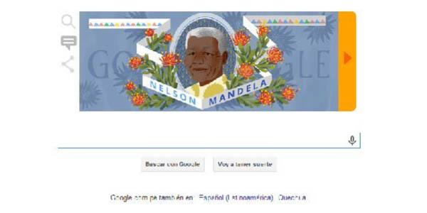 Google lanzó un doodle en homenaje al natalicio de Nelson Mandela