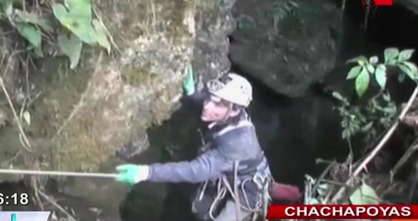 Chachapoyas: rescatan a espeleólogo español atrapado en cueva Intimachay