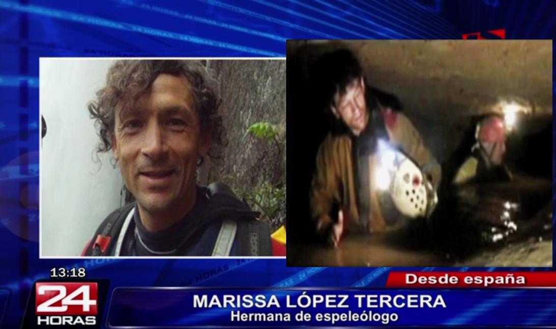 Familia de espeleólogo español vivió incertidumbre por rescate de Cecilio López