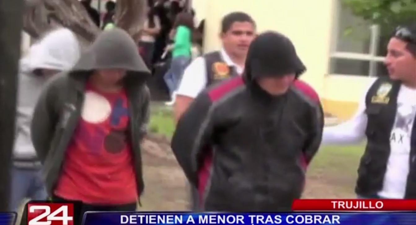 Trujillo: detienen a adolescentes que pertenecían a banda de extorsionadores