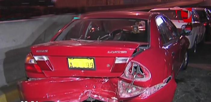 Surco: triple choque por aparente exceso de velocidad dejó un herido