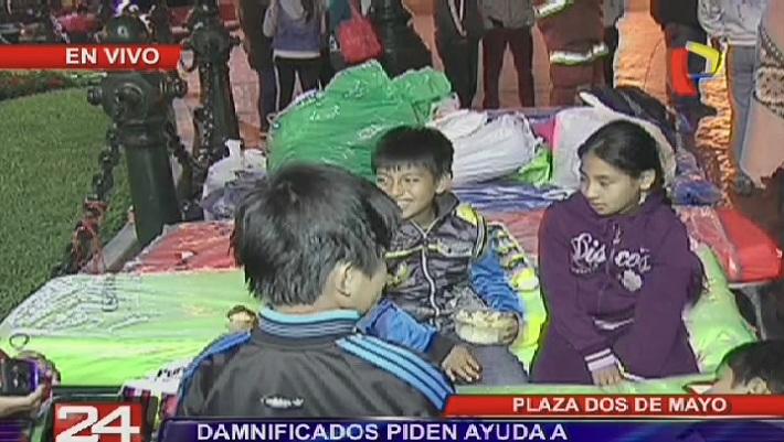 Plaza Dos de Mayo: 55 familias se quedan en la calle tras incendio