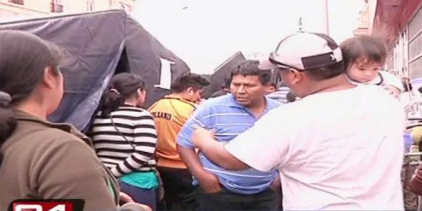 Plaza Dos de Mayo: damnificados rechazan ser llevados a albergues
