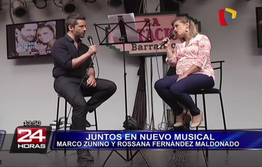 Juntos en concierto: nuevo show de Marco Zunino y Rossana Fernández Maldonado