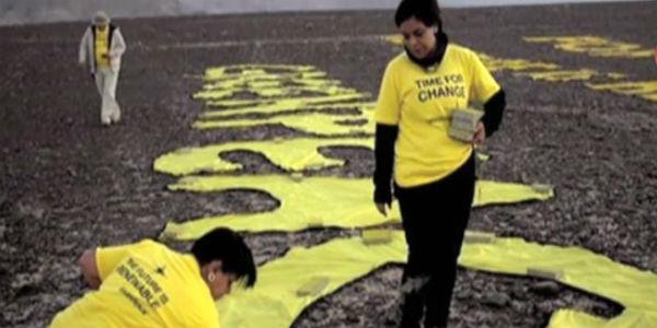 Fiscalía abrirá investigación a activistas de Greenpeace por daños a líneas de Nazca