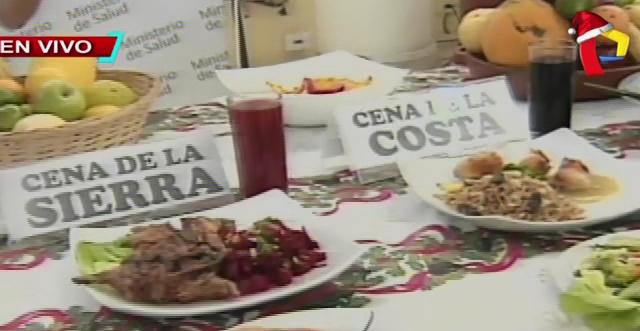 Nutricionista del Minsa brinda opciones saludables para la cena navideña