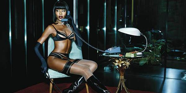 FOTOS: Naomi Campbell es la imagen de una famosa marca de lencería francesa