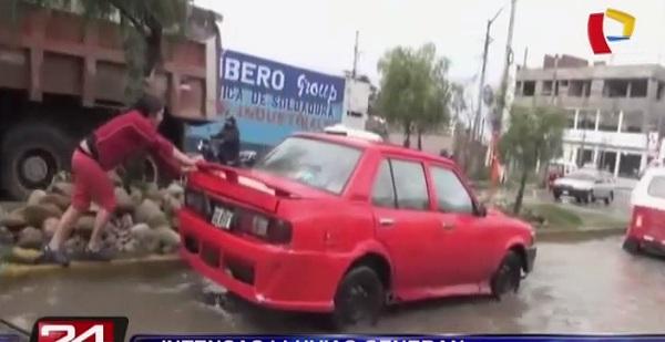 Intensas lluvias generaron inundaciones en Cajamarca