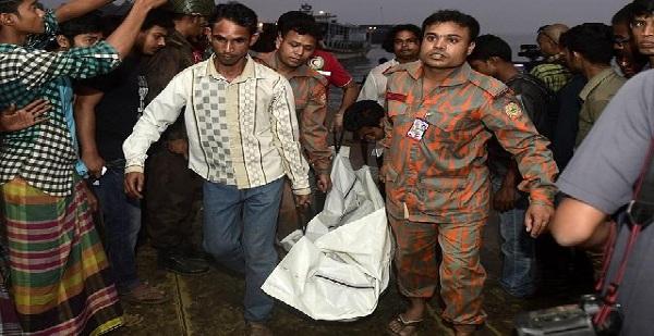 Naufragio de embarcación deja 13 muertos en Bangladesh