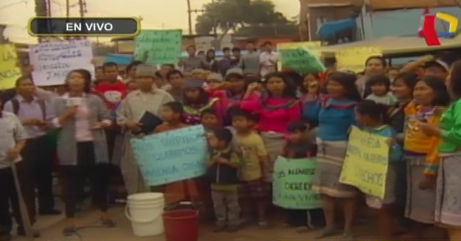 Comunidad shipiba de Cantagallo exige reubicación a municipio de Lima