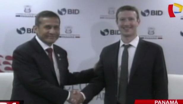 Ollanta Humala se reunió con Mark Zuckerberg en Panamá