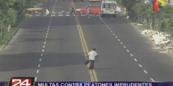 Las multas para peatones imprudentes oscilan entre 20 y 150 soles