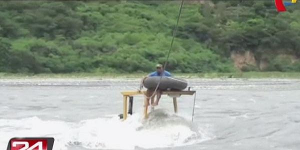 Cusco: rescatan a operario que quedó atrapado en medio del río Vilcanota