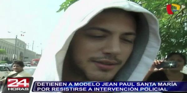 Detienen a modelo Jean Paul Santa María por resistirse a intervención policial