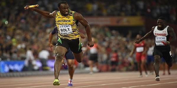 Usain Bolt ganó medalla de oro en relevo 4x100 en Mundial de Atletismo