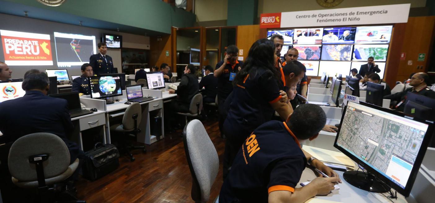 Fenómeno El Niño: presentan Centro de Operaciones de Emergencia