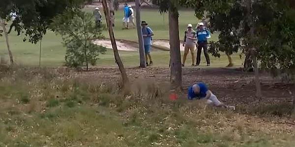 VIDEO: espectador cae fulminado por el impacto de una pelota de golf