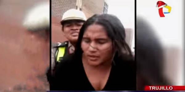 Trujillo: mujer agrede a policía femenina durante intervención