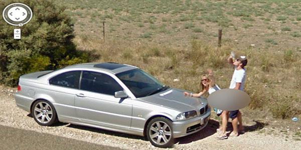 Descubre cuáles son las 10 fotos más extrañas captadas por 'Google Street View'