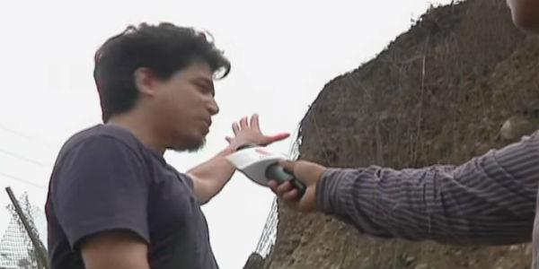 Joven se salvó de ser aplastado por piedras en la Costa Verde