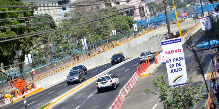 Cercado de Lima: By pass 28 de Julio funcionará las 24 horas