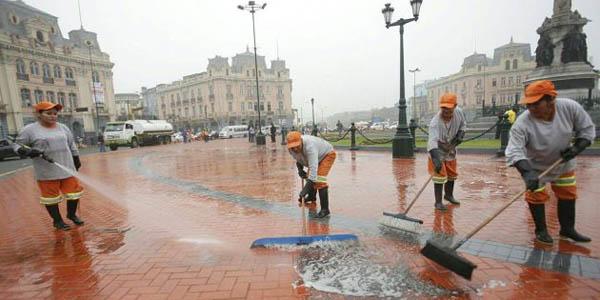 Marcha 'No a Keiko': Plaza Dos de Mayo no sufrió daños