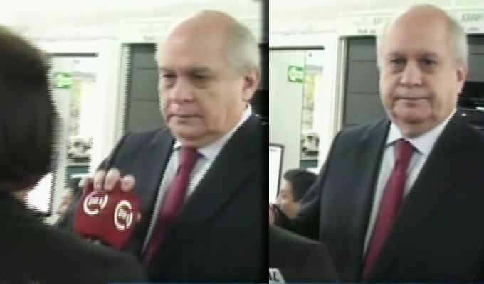 Premier Pedro Cateriano hace desplante a reportera