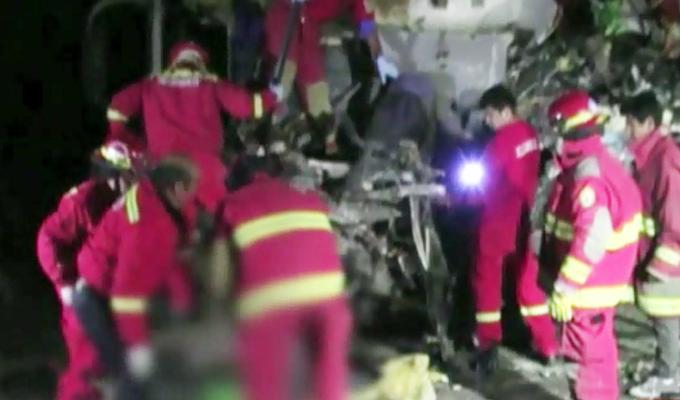 Nasca: Aparatoso choque entre dos ómnibus interprovinciales deja 17 muertos