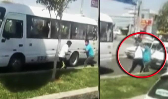 Tacna: Bronca entre transportistas después de accidente en plena vía pública