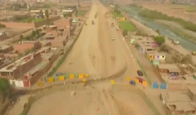 Presentan avance de construcción de nueva autopista Ramiro Prialé