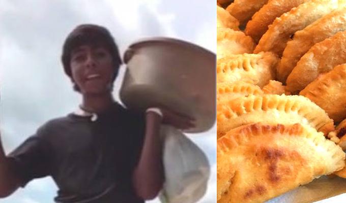 Adolescente vendedor de empanadas impresiona por su talento