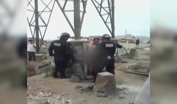 VMT: vecinos golpean y desnudan a ladrón