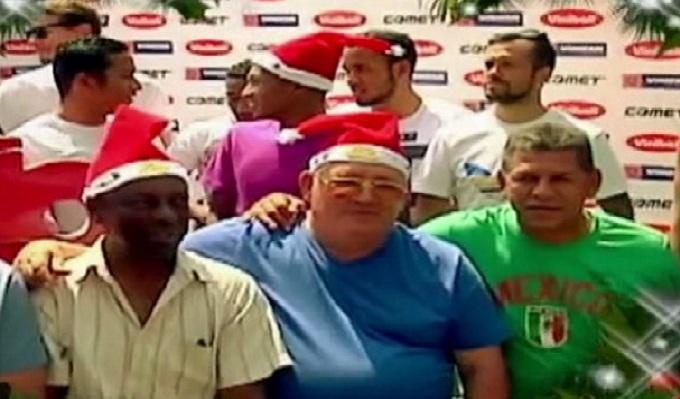 Futbolistas peruanos envían saludos por Navidad