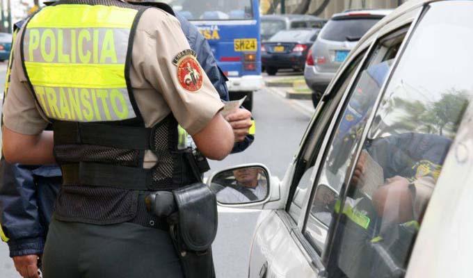 Atención conductores: coima a policías merecerá hasta 8 años de cárcel