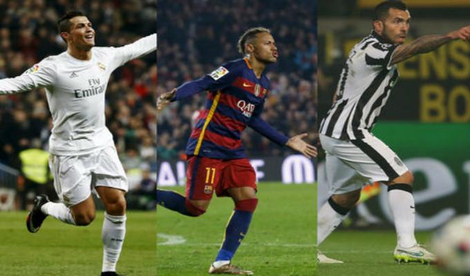 Cristiano Ronaldo, Neymar y Carlos Tevez celebraron cumpleaños