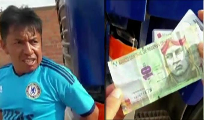 """Pucallpa: chofer intentó """"coimear"""" a efectivo policial que lo intervino"""