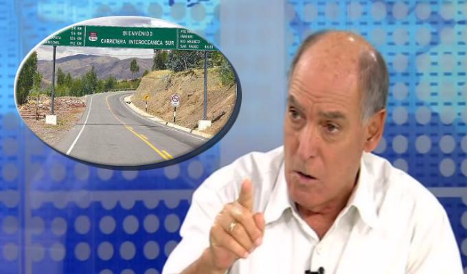 """Tapia sobre Interoceánica: """"Entramado de corrupción infló importancia de carretera para justificar inversión"""""""