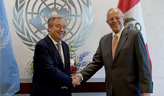PPK se reunió con Secretario General de la ONU