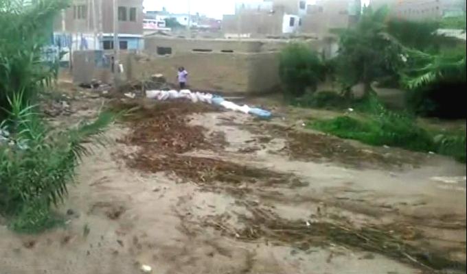 Desborde de río Cañete afecta decenas de viviendas