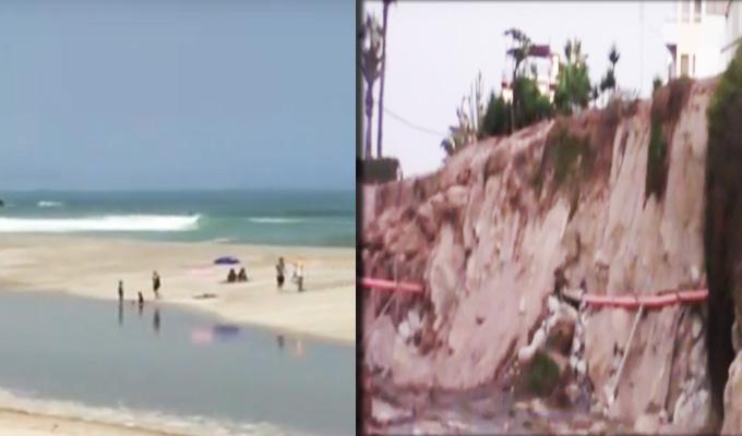 Tuberías colapsan y aguas turbias inundan playa de Punta Hermosa