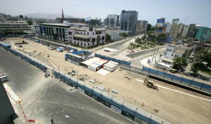 Retoman trabajos de construcción de alameda del by-pass 28 de Julio
